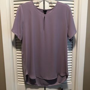 Purple Keyhole Blouse
